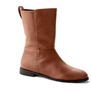 Lands end Women's Leather Slouch mid calf Boots